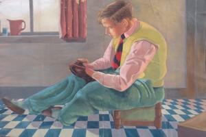 Figurative comp., First Year GSA, Gavin Alston, c. 1947