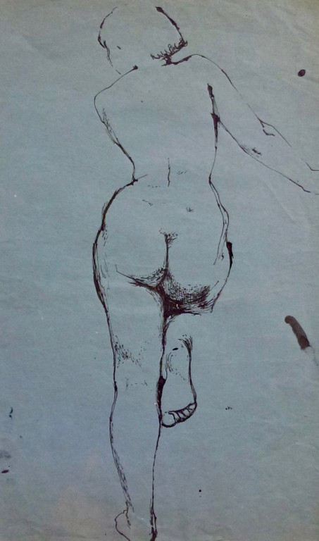 Life drawing by Janie Alston, c. 1952/3