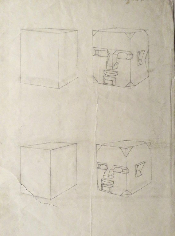 First year drawing by Gavin Alston, GSA, 1947