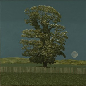 Tree and Moon, b y David Inshaw, 2012